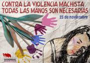 Cartel 25N Día Internacional contra la Violencia hacia las mujeres