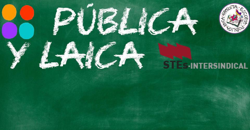 La Confederación de STEs-i apoya la convocatoria del próximo miércoles ante el Congreso, para pedir una Educación laica