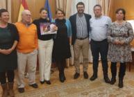 Representantes de Confederación Intersindical con la Ministra de Trabajo, Yolanda Díaz y