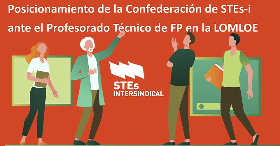 El MEFP propone que el profesorado Técnico de FP con titulación superior de formación profesional no pueda optar a plazas